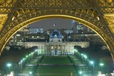 View at Night from the Palais De Chaillot to the Eiffel Tower and the Ecole Militaire Behind Photographic Print by  Design Pics Inc