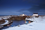 A Village on the Coast; Seaton Sluice, Northumberland, England Fotografisk tryk af  Design Pics Inc