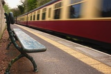 Speeding Passenger Train; Yorkshire,England Photographic Print by  Design Pics Inc