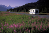 Autombiles on Seward Highway in Kenai Mtns Kp Ak Summer Photographic Print by  Design Pics Inc