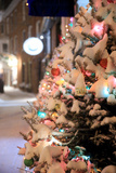 A Snow Covered Tree in Portsmouth, New Hampshire Lights Up a Winter Night Photographic Print by Robbie George