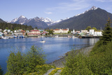 View of Sitka with Sitka Channel in the Foreground Alaska Southeast Summer Photographic Print by  Design Pics Inc