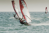 Windsurfing; Tarifa Cadiz Andalusia Spain Papier Photo par  Design Pics Inc