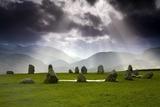 Castlerigg Stone Circle; Kendal, Cumbria, England Fotografisk tryk af Design Pics Inc