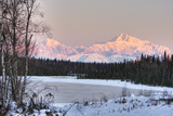 Winter Scenic of the Southside of Mt. Mckinley as Seen from South of the Denali National Park Reproduction photographique par  Design Pics Inc