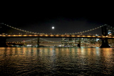 Bridges Connect Brooklyn to a Bright Manhattan Night Skyline Photographic Print by Robbie George