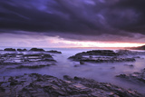 Sunset on Beach Near Melbourne, Australia Papier Photo par Keith Ladzinski