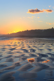 Sunset Colors Reflect onto Maine's Higgins Beach in Wintertime Photographic Print by Robbie George