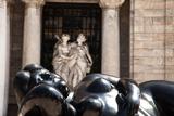 A Sculpture by Fernando Botero Outside the Palacio De Bellas Artes Photographic Print by Michael Lewis