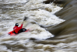 Brad Ludden Kayaks the Colorado River in Glenwood Springs, Colorado Photographic Print by Pete McBride