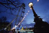 London Eye at Night Photographic Print by  Design Pics Inc