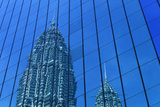 Petronas Towers Reflected in Nearby Office Buildings Photographic Print by  Design Pics Inc
