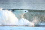 A Surfer Falls into a Winter Wave Off the Coast of Maine Photographic Print by Robbie George