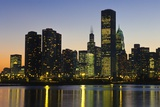 Chicago Skyline at Night Photographic Print by  Design Pics Inc