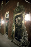 Holiday Decorations in Portsmouth, New Hampshire Make a December Night Festive Photographic Print by Robbie George