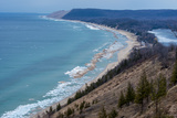 Sleeping Bear Dunes National Lakeshore on the East Side of Lake Michigan Fotografisk tryk af Michael Melford