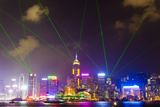The Symphony of Lights Light and Laser Show over Hong Kong Photographic Print by Mike Theiss