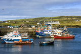Fishing Boats at Portmagee in Kerry, Ireland Fotografisk tryk af Chris Hill