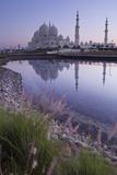 Sheikh Zayed Grand Mosque at Sunrise; Abu Dhabi, United Arab Emirates Photographic Print by  Design Pics Inc