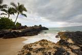 Hawaii, Maui, Makena Cove, Tropical Beach and Palm Trees Papier Photo par  Design Pics Inc