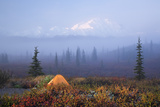 Scenic View of Wonder Lake Campground with a Tent Photographic Print by  Design Pics Inc