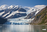 Scenic View of Stairway Glacier (R) Flowing into Surprise Glacier from Chugach Mountains Photographic Print by  Design Pics Inc