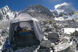 A Tent at the Mount Everest Base Camp. Nepal Photographic Print by Pete McBride
