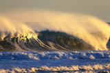 Late Afternoon Light Illuminates a Winter Wave Off the Coast of Maine Photographic Print by Robbie George