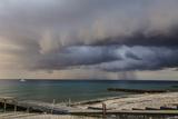 A Storm Rolls across the Bahia De Corrientes, the Location of One of Cuba's Best Dive Sites Papier Photo par Michael Lewis