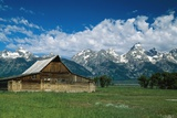 Moulton Barn at Mormon Row in Grand Tetons Reproduction photographique par  Design Pics Inc