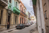 A Quiet Street in Havana Vieja Photographic Print by Michael Lewis