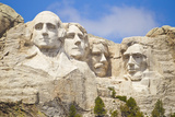 Low Angle View of the Presidents on Mount Rushmore Photographic Print by Mike Theiss
