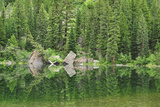 Reflection of Forest and Rocks in Mirror Lake, Near Marble, Colorado Photographic Print by Keith Ladzinski