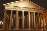Night Lights of the Pantheon in Piazza Della Rotunda; Rome Lazio Italy Photographic Print by  Design Pics Inc