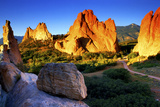 Sunrise at Garden of the Gods, Colorado Photographic Print by Keith Ladzinski