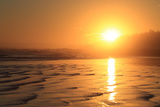 The Sun Sets over Maine's Higgins Beach in Wintertime Photographic Print by Robbie George