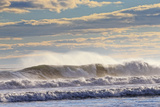 Winter Waves Break Off the Coast of Maine Photographic Print by Robbie George