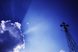 Rays of Sunshine with Cloud and Cross Photographic Print by  Design Pics Inc