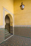 Intricate Tile Mosaics in an Alcove at the Mausoleum of Moulay Ismail Photographic Print by Erika Skogg