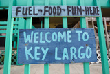 A Colorful Sign Welcoming People to Key Largo Photographic Print by Mike Theiss