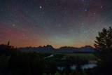 The Night Sky over the Grand Teton National Park and the Snake River Photographic Print by Babak Tafreshi