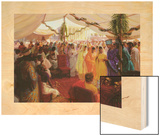Alexander the Great Celebrates a Mass Marriage in Susa, Persia Wood Print by Tom Lovell
