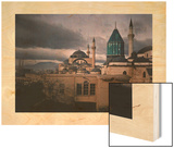 A View of the Alaeddin Mosque in Koniah Wood Print by Gervais Courtellemont