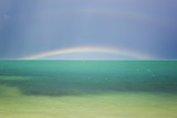 A Brilliant Double Rainbow over the Atlantic Ocean in the Florida Keys Photographic Print by Mike Theiss