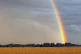 A Thunderstorm Produces a Vivid Rainbow Photographic Print by Jim Reed