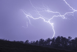 Lightning Wriggles across the Sky and Strikes the Ground Photographic Print by Jim Reed