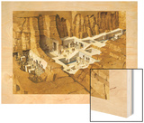 Illustration Showing How the Tomb of Seti I Was Built and Decorated Wood Print by Christopher Klein