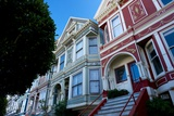 Colorful Victorian Homes in the Haight-Ashbury District of San Francisco, California Photographic Print by Krista Rossow