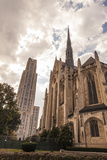 Heinz Memorial Chapel and Cathedral of Learning on the Campus of University of Pittsburgh Photographic Print by Richard Nowitz