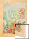 A View of Poisonous Sea Anemones Wood Print by Else Bostelmann